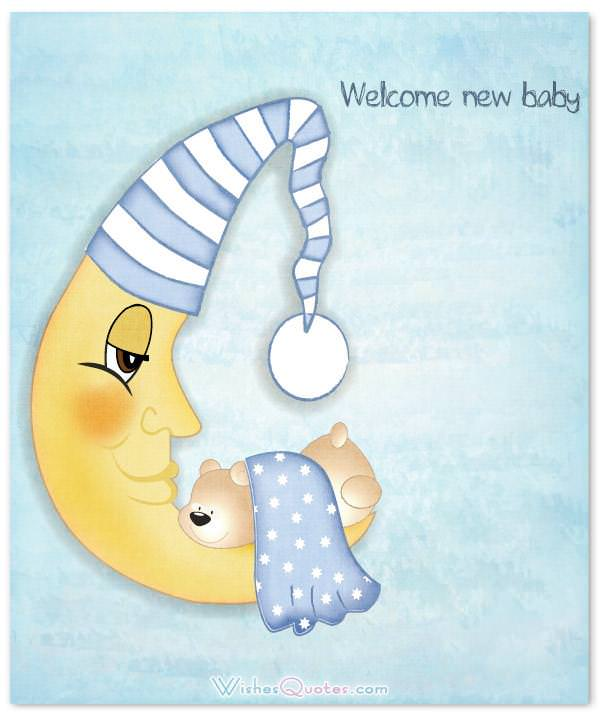 Welcome new baby. Newborn Baby Card