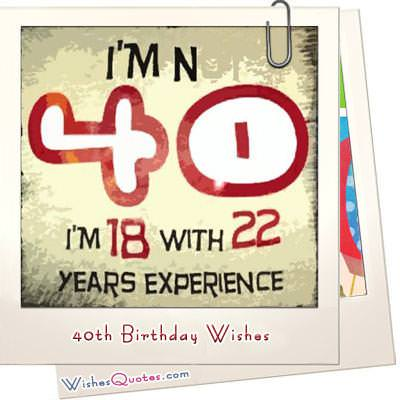40th Birthday Wishes What To Write In A 40th Birthday Card