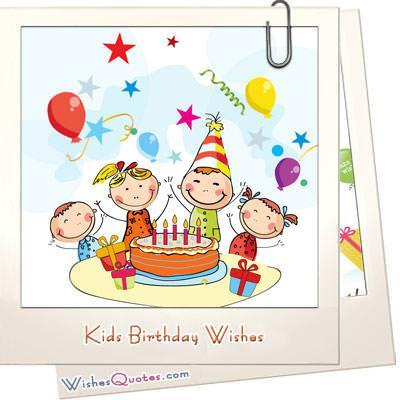 Kids Birthday Wishes Wishesquotes