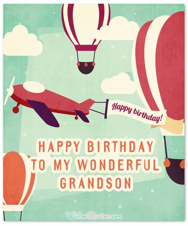 Amazing birthday wishes for grandson wishesquotes happy birthday to my wonderful grandson m4hsunfo