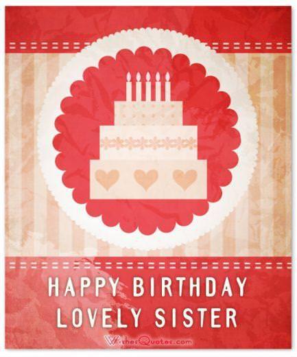 Happy Birthday Lovely Sister