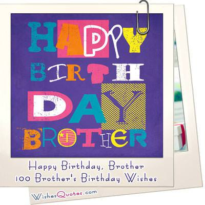 Happy birthday brother 100 brothers birthday wishes m4hsunfo Images