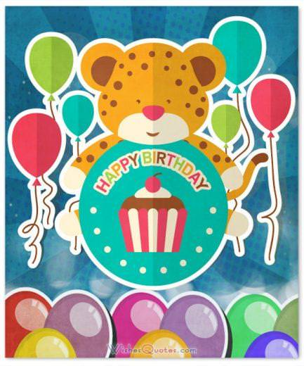 Happy Birthday Card for Kids