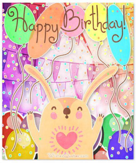 happy birthday card with cute animal. Birthday Wishes for your Best Friends.