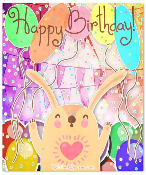Happy Birthday Card With Cute Animal Wishes For Your Best Friends