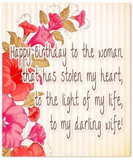 Birthday Wishes for Wife: Happy birthday to my darling wife