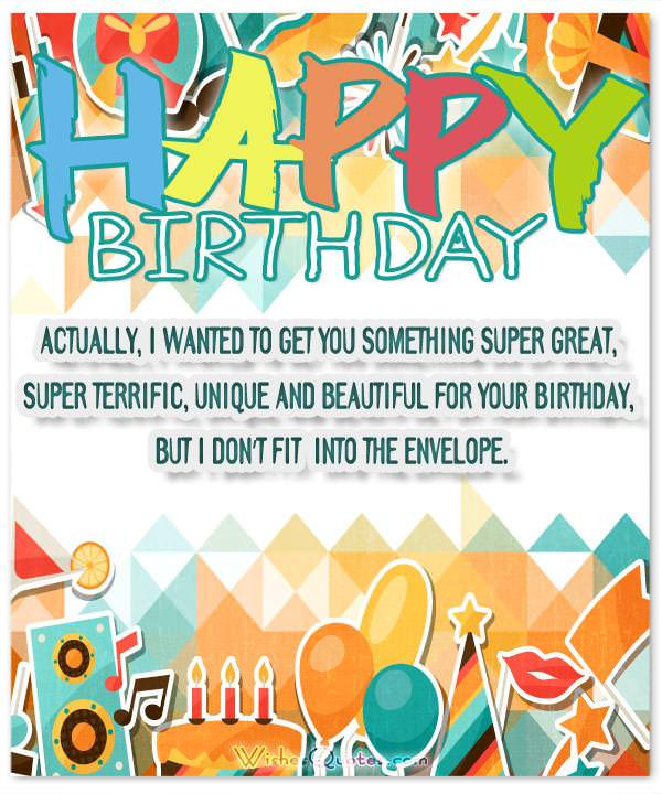 Funny Birthday Messages Actually I Wanted To Get You Something Super Great