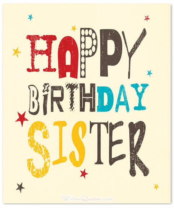 60 Cute Birthday Wishes For Sister – Cute Birthday Card for Sister