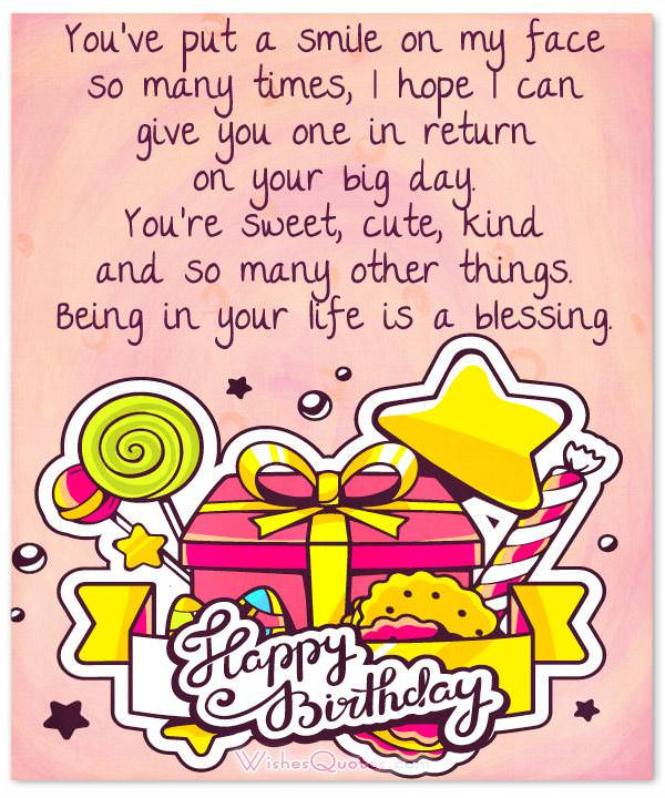 100 Sweet Birthday Messages Adorable Birthday Cards Wishes and – Happy Birthday Cards for a Friend