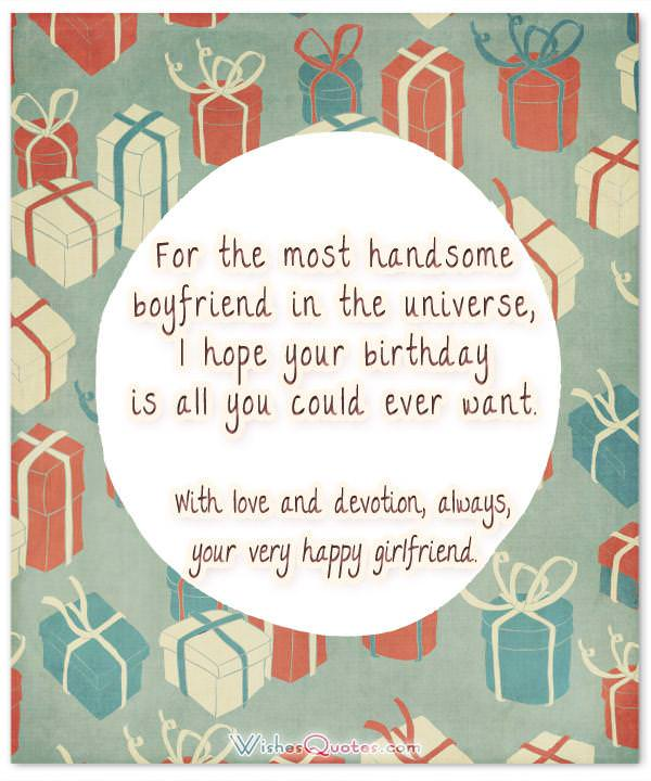 Cute Birthday Wishes For Your Charming Boyfriend