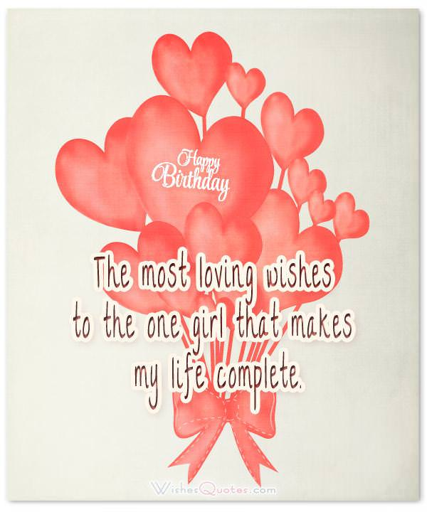 Heartfelt Birthday Wishes For Your Girlfriend Wishesquotes