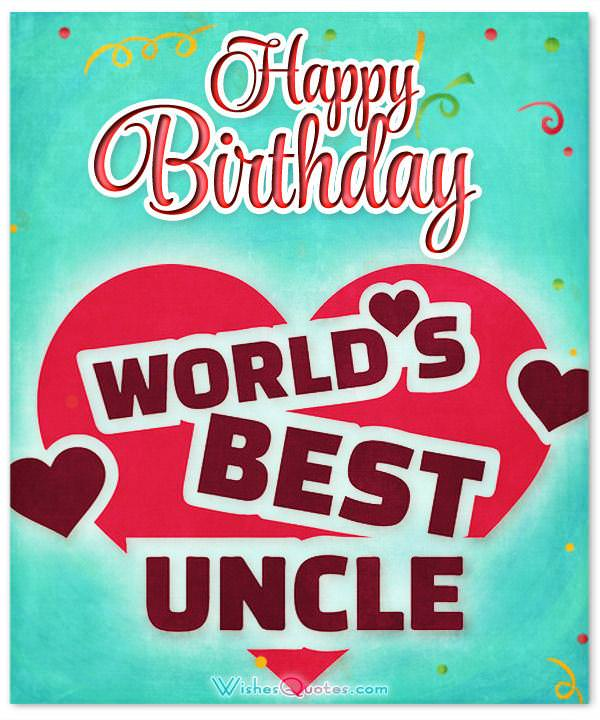 Happy Birthday to the best uncle in the world!