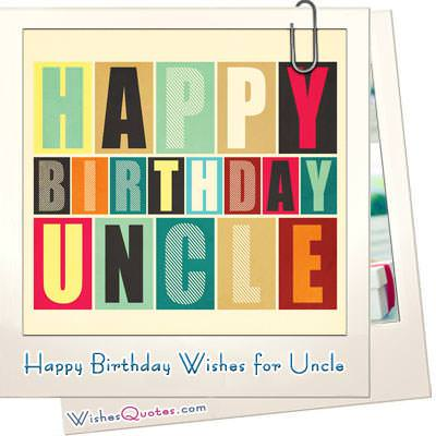 heartfelt messages for your uncle's birthday