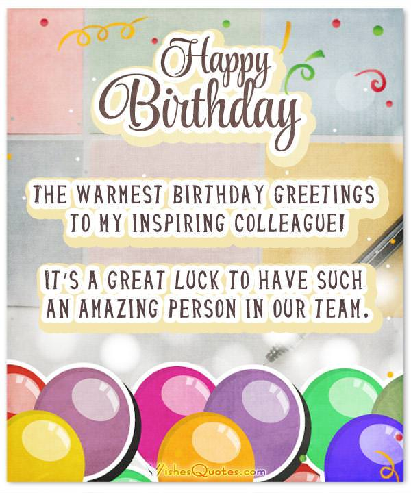 33 heartfelt birthday wishes for colleagues colleague birthday wishes card m4hsunfo