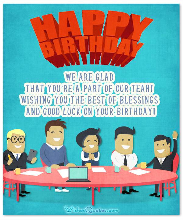 Colleague Birthday Wishes Card