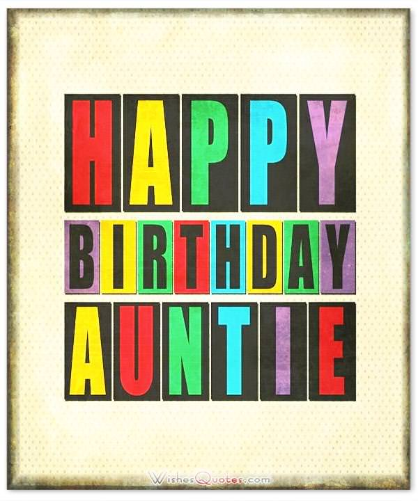 Happy Birthday Auntie