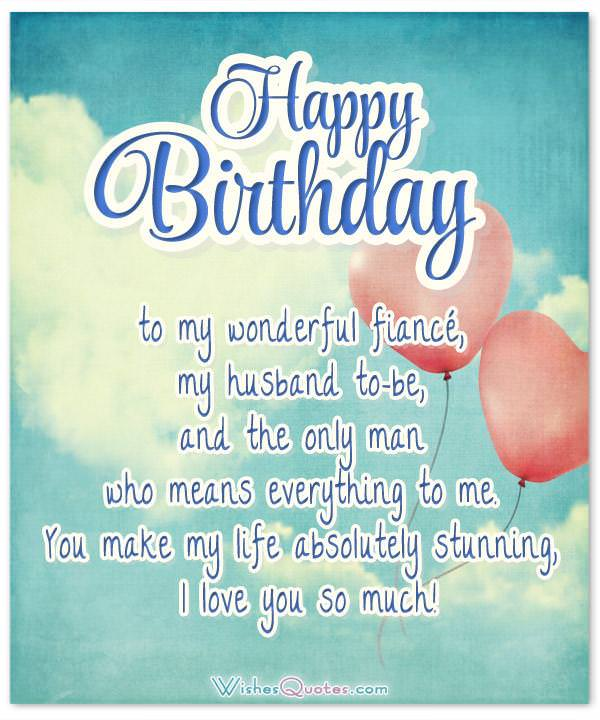 Romantic Birthday Cards Loving Birthday Wishes For Fiancé Extraordinary Quotes On Fiance