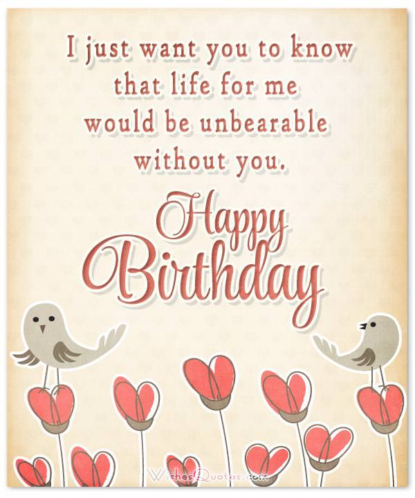 E-Card with Lovely Birthday Wishes for Fiancée