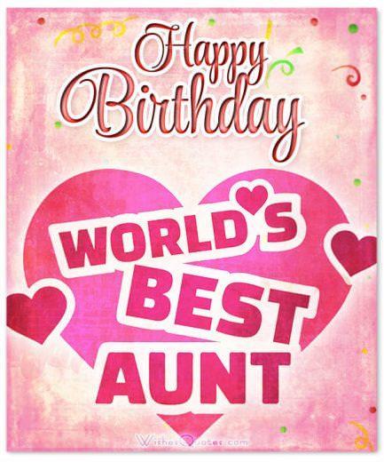 Happy Birthday world's best aunt!