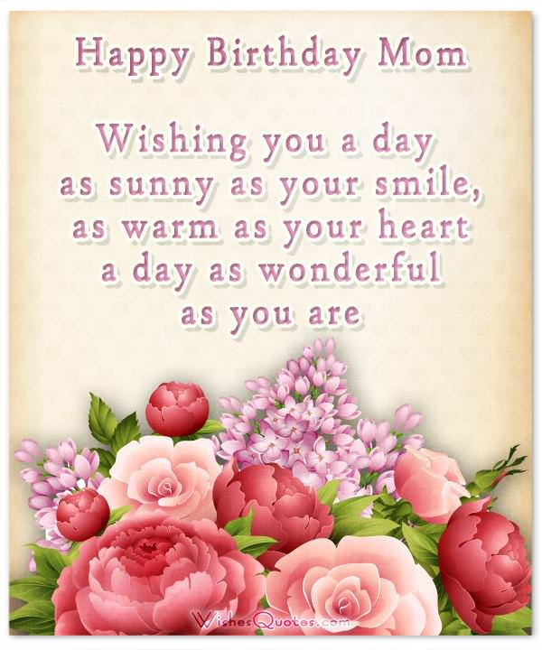 Happy Birthday Mom Heartfelt Mothers Birthday Wishes – Birthday Greetings for Mother