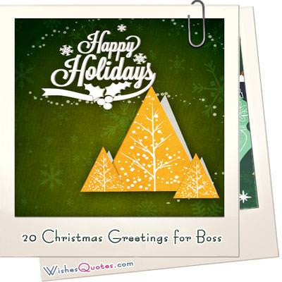 20 christmas greetings for boss featured