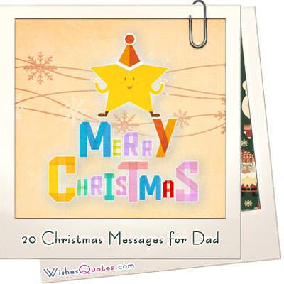 20 christmas messages for dad featured