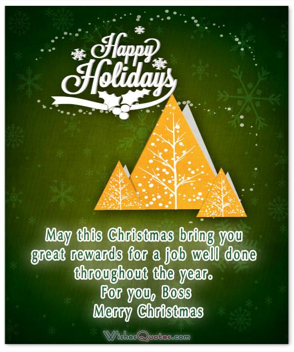 20 christmas messages to share the spirit of christmas with your boss christmas greetings for boss m4hsunfo