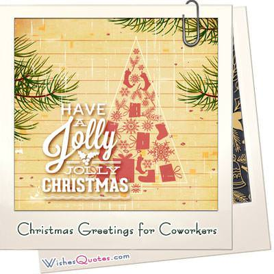 Christmas greetings for coworkers featured