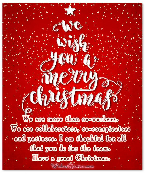 Top 20 Christmas Greetings for Coworkers – WishesQuotes