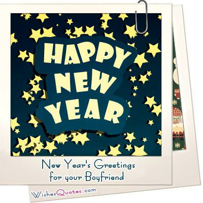 Happy New Year Wishes for your Boyfriend