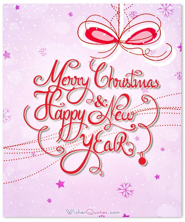Romantic happy new year card