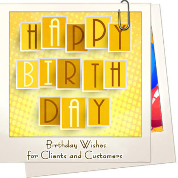 Birthday wishes clients customers featured