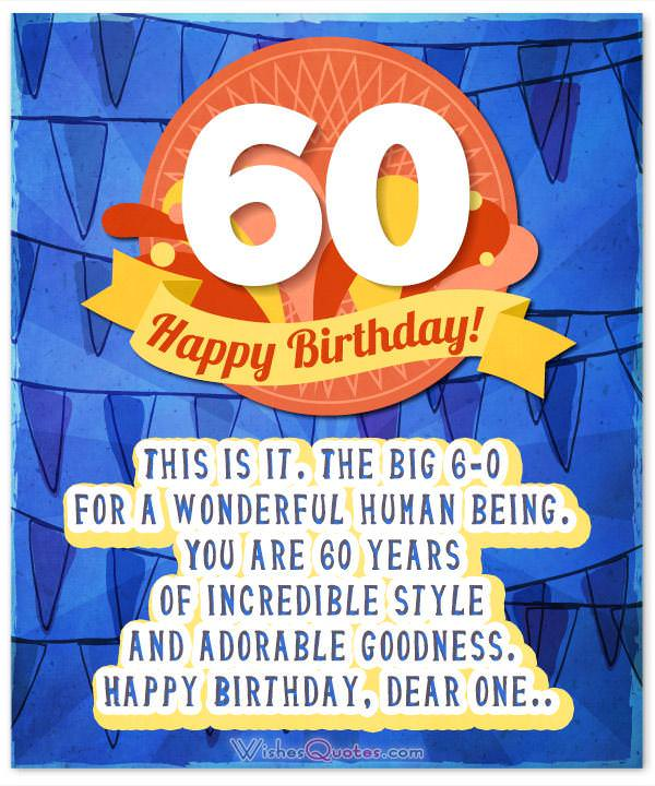 60th Birthday Wishes - Unique Birthday Messages for a 60 ...