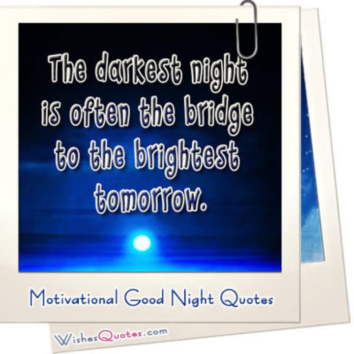 Motivational good night quotes featured