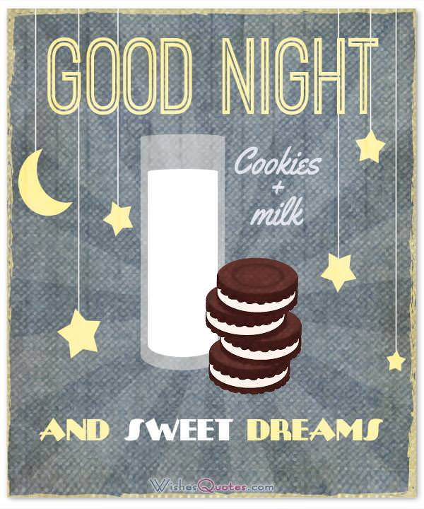 Good Night and Sweet Dreams. Image with Good Night Message