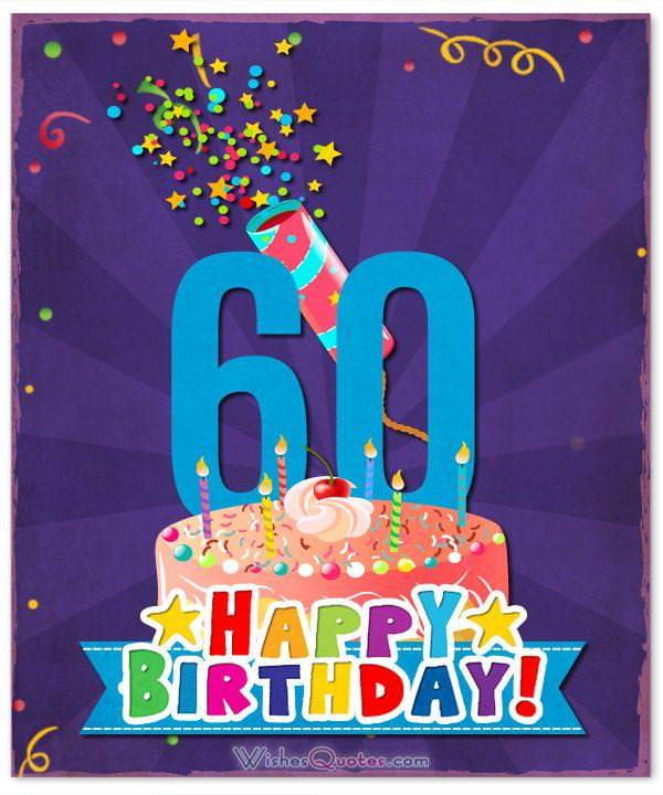 Birthday Messages for a 60th Birthday