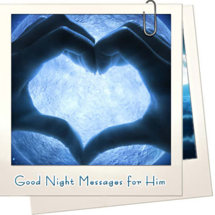 Good night messages for him featured