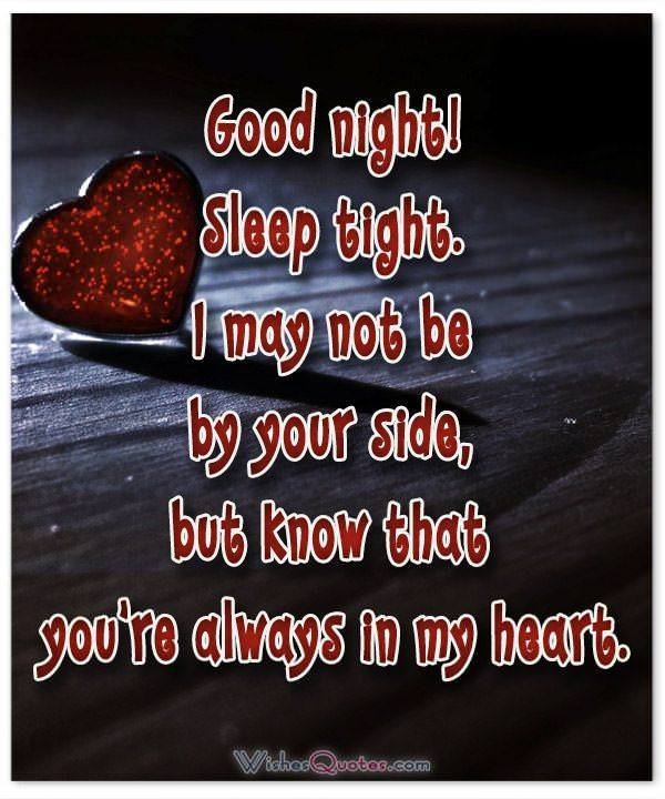 Good Night Messages for Her Image. Know that you're always in my heart