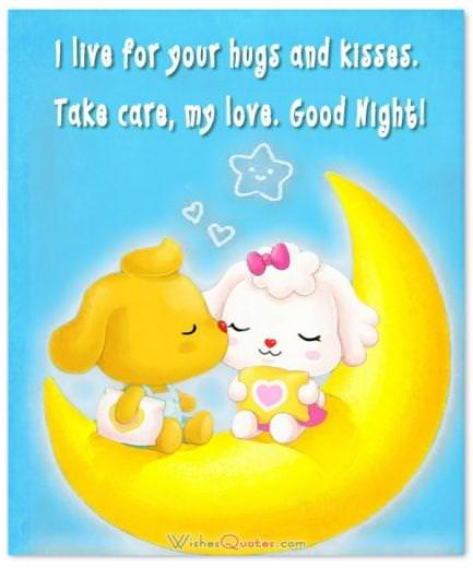 Image with Good Night Message for Him