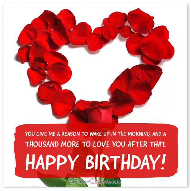 Birthday Love Messages For Your Sweetheart