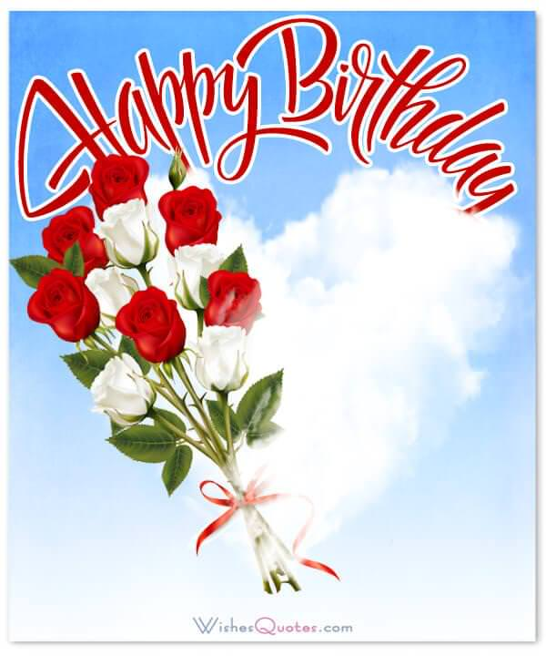 Wishes Happy Birthday Love Hugs With A Cloud Forming Heart