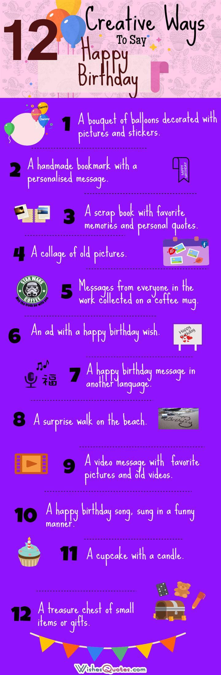 12 Creative Ways to Say Happy Birthday