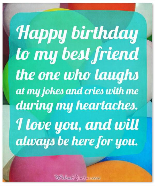 Birthday Wishes For Your Best Friend Happy To My The One