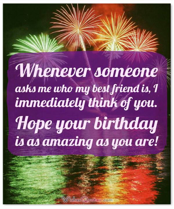 Heartfelt birthday wishes for your best friends with cute images birthday wishes for your best friend whenever someone asks me who my best friend is m4hsunfo