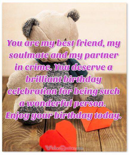 Sweet birthday wishes for someone special in your life