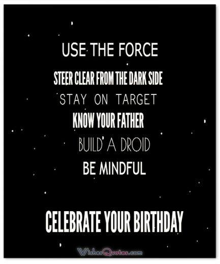 Birthday message for Star Wars Fans.