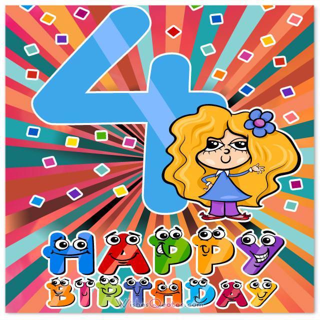 4 year girl happy birthday