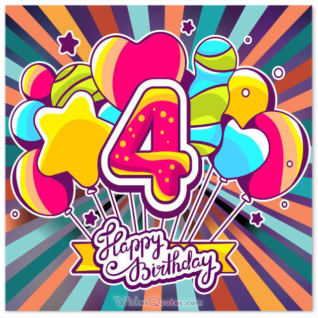 Birthday card 4 year