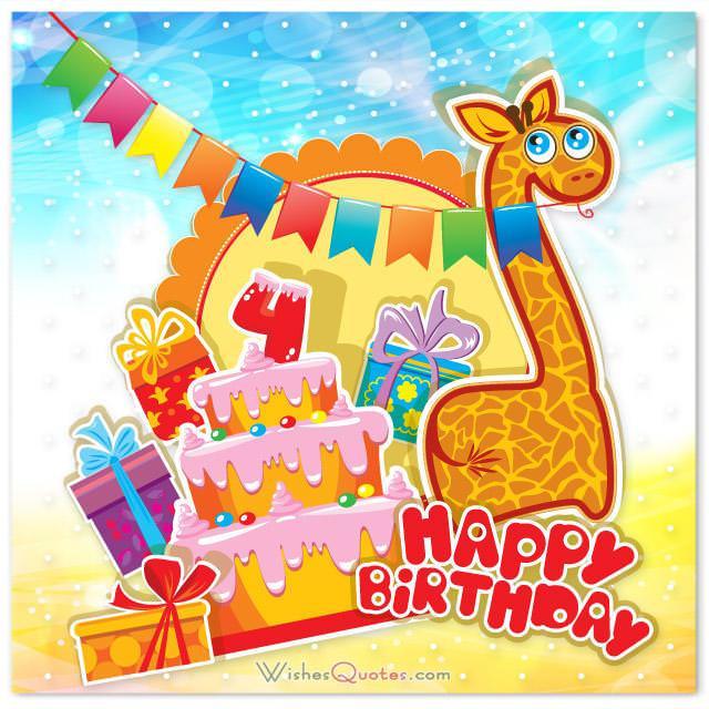 Happy birthday 4 year old
