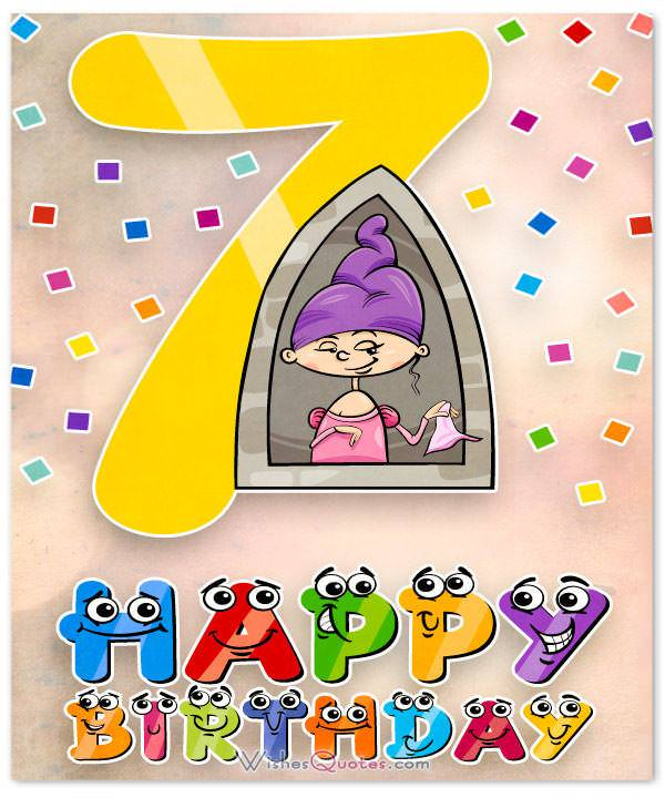 Happy 7th birthday wishes for 7 year old boy or girl happy 7th birthday wishes m4hsunfo